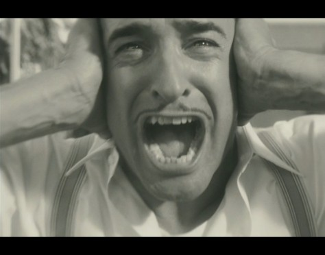 zz The Artist screaming and no noise jean-dujardin-as-george-valentin-in-the-artist