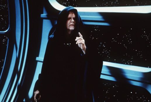 """CA.Jedi13.1.0305.AC.5.Q – Ian McDiarmid is the Emperor in """"Return of the Jedi"""" Special Edition. © 1997 Lucasfilm Ltd. All Rights Reserved.Photo: Albert Clarke/Lucasfilm"""