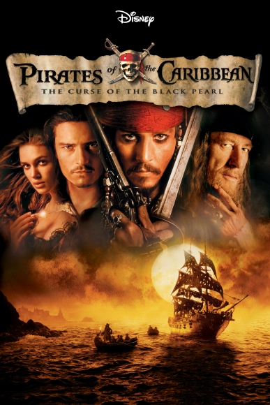 pirates-of-the-caribbean-the-curse-of-the-black-pearl-poster-artwork-johnny-depp-geoffrey-rush-orlando-bloom