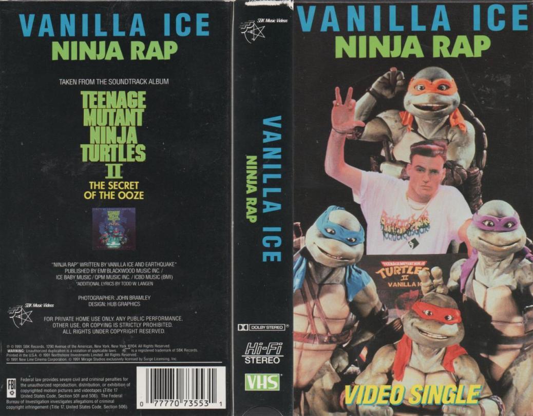 Vanilla Ice Ninja Rap
