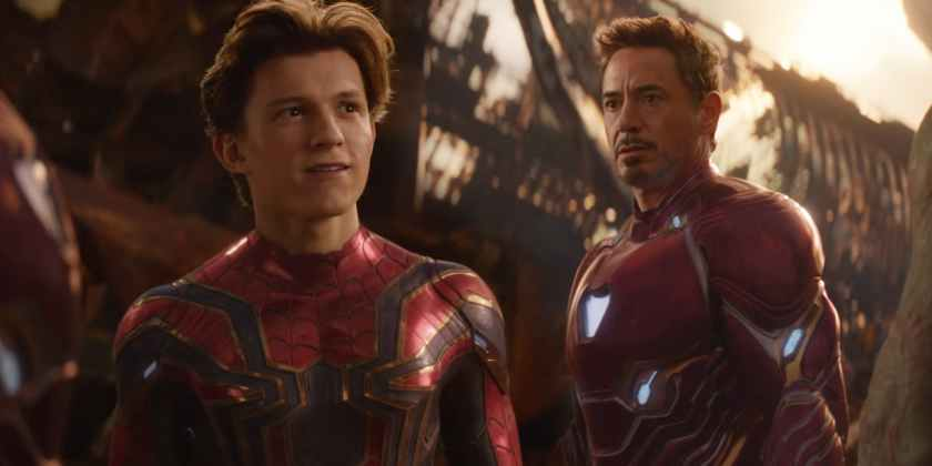 Tom-Holland-as-Spider-Man-and-Robert-Downey-Jr-as-Iron-Man-in-Avengers-Infinity-War